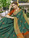 photo of Teal Weaving Work On Art Silk Ethnic Wear Saree