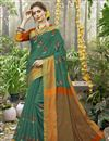 image of Teal Weaving Work On Art Silk Ethnic Wear Saree