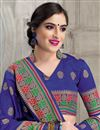photo of Navy Blue Banarasi Silk Occasion Wear Traditional Saree With Weaving Work