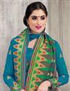 photo of Enchanting Teal Banarasi Silk Designer Saree With Weaving Work