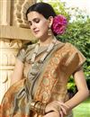 photo of Wedding Wear Traditional Art Silk Fabric Fancy Saree In Dark Beige