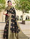 image of Designer Art Silk Fabric Function Wear Saree In Black