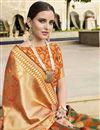 photo of Multi Color Art Silk Fabric Designer Function Wear Saree