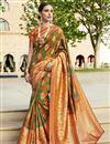 image of Multi Color Art Silk Fabric Designer Function Wear Saree