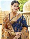 photo of Designer Navy Blue Function Wear Saree In Art Silk Fabric