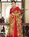image of Red Georgette Festive Wear Saree With Print Work