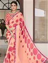 image of Georgette Salmon Color Party Wear Saree With Print Work