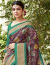 photo of Classic Print Designs On Burgundy Color Occasion Wear Saree In Art Silk