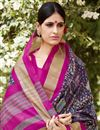 photo of Art Silk Purple Festive Wear Saree With Winsome Printed Work