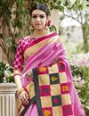 photo of Classic Print Designs On Art Silk Occasion Wear Saree In Pink