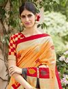 photo of Orange Art Silk Festive Wear Saree With Winsome Printed Work