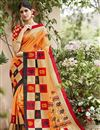 image of Orange Art Silk Festive Wear Saree With Winsome Printed Work
