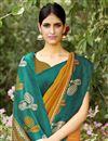 photo of Marvelous Print On Mustard Party Wear Saree In Art Silk