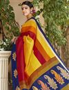 photo of Radiant Print Work On Multi Color Art Silk Function Wear Saree