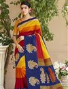 image of Radiant Print Work On Multi Color Art Silk Function Wear Saree