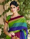 photo of Excellent Art Silk Multi Color Designer Saree With Printed Designs