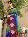 image of Excellent Art Silk Multi Color Designer Saree With Printed Designs