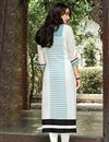 photo of White Office Wear Linen Long Printed Readymade Kurti
