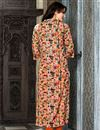 photo of Linen Printed Casual Wear Readymade Kurti In Orange In Plus Size