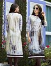 image of Off White Daily Wear Casual Readymade Kurti In Linen