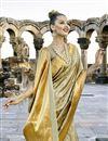 photo of Art Silk Print Designs On Cream Occasion Wear Beatific Saree