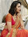 photo of Excellent Art Silk Salmon Color Function Wear Saree With Embroidery Work