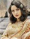 photo of Engaging Cream Art Silk Designer Saree With Embroidery Work