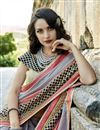 photo of Marvelous Embroidery Work On Art Silk Grey Party Wear Saree
