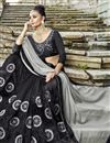 photo of Embroidered Fancy Fabric Black Function Wear Half Half Saree