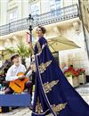 photo of Fancy Fabric Navy Blue Festive Wear Saree With Winsome Embroidery Work