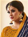 photo of Casual Party Style Embroiderey On Mustard Cotton Fabric Straight Salwar Suit