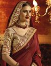 photo of Designer Function Wear Brown Art Silk Saree With Embroidery Work