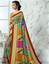 image of Mesmeric Art Silk Fabric Printed Fancy Party Wear Multi Color Saree