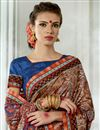 photo of Vibrant Party Wear Printed Multi Color Fancy Saree In Art Silk Fabric