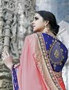 photo of Embroidery Designs On Art Silk Wedding Wear Saree In Pink