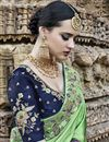 photo of Sea Green Art Silk Function Wear Saree With Embroidery Work