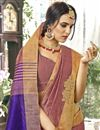 photo of Cotton Silk Function Wear Pink Saree With Weaving Work