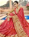 photo of Red Embroidery Designs On Chanderi Silk Occasion Wear Saree