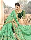 photo of Chanderi Silk Designer Saree In Sea Green With Embroidery Work