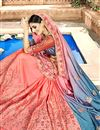 photo of Pink Occasion Wear Chanderi Silk Saree With Embroidery Work
