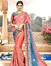 image of Pink Occasion Wear Chanderi Silk Saree With Embroidery Work