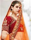 photo of Designer Sangeet Wear Maroon Lehenga With Embroidery In Velvet Fabric