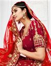 photo of Wedding Wear Maroon Lehenga Choli With Work In Velvet Fabric