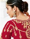 picture of Wedding Wear Maroon Lehenga Choli With Work In Velvet Fabric