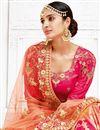 photo of Designer Sangeet Wear Banarasi Fabric Lehenga With Embroidery