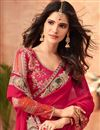photo of Red Georgette Festive Saree With Embroidery Work And Gorgeous Blouse