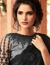 photo of Embroidered Work On Art Silk Designer Saree In Black Color With Admirable Blouse