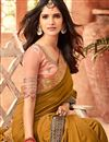 photo of Embroidery Work On Coffee Art Silk Party Wear Saree With Designer Blouse