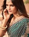photo of Embroidery Work On Art Silk Teal Designer Saree With Party Wear Blouse