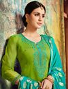 photo of Embroidered Designer Patiala Suit In Fancy Chanderi Silk With Fancy Dupatta